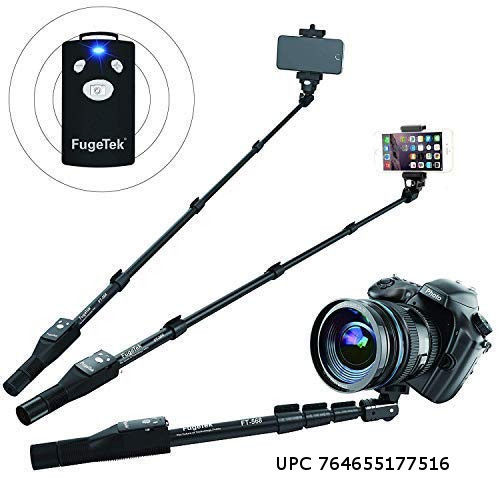 Fugetek FT-568 Professional High End Selfie Stick, Apple, Android, Camera, Wireless Bluetooth Remote