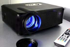 Open Box FG-857 LED Video Projector 720P, 2700 Lumens, 1280x800, HDMI, USB, COAX