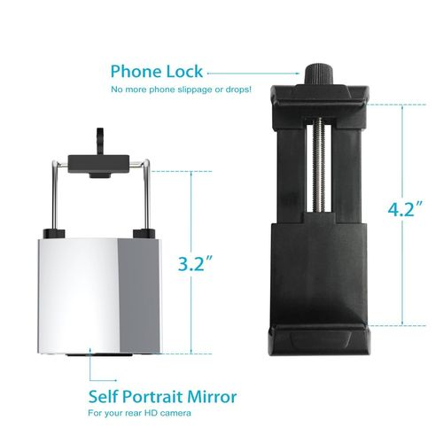 Fugetek Selfie Stick 3 Piece Phone Mount Kit